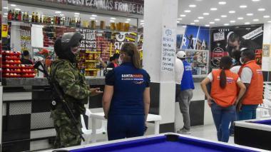 Caravanas de seguridad en Santa Marta para hacer cumplir normas en pandemia