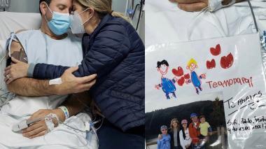 Esposa del periodista Felipe Arias lo acompaña en su recuperación