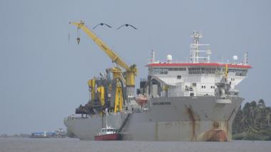 Amplían estadía de draga Bartolomeu Dias en el Puerto de Barranquilla