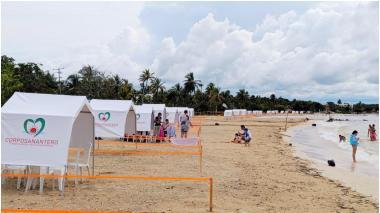 Por alerta roja, incrementan controles en las playas de San Antero