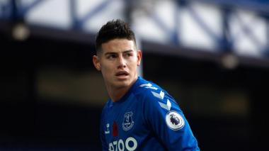 """""""Puedo alcanzar una mejor forma en el Everton"""": James Rodríguez"""