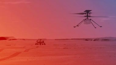 NASA prevé que helicóptero Ingenuity hará el 11 abril primer vuelo en Marte