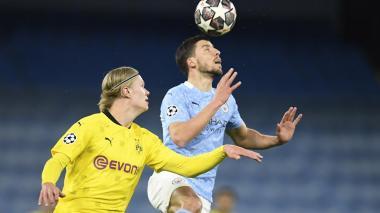 Manchester City venció por 2-1 al Borussia Dortmund