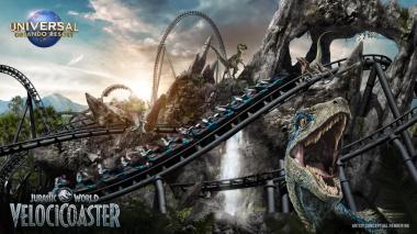 Así es la montaña rusa inspirada en Jurassic World