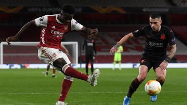 Slavia de Praga y el Arsenal empatan por 1-1
