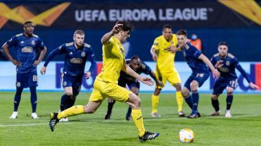 Villarreal derrota de visitante 1-0 al Dínamo Zagreb en la Liga de Europa