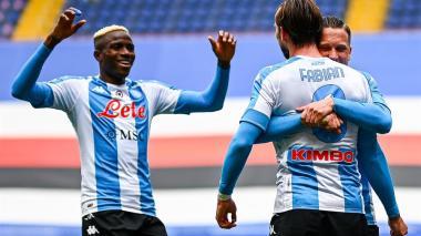 Napoli venció al Sampdoria por 2-0