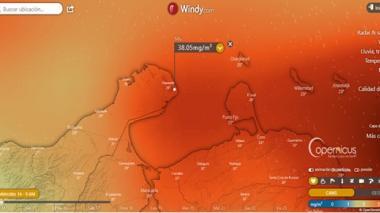 Recomendaciones por el paso de la nube de dióxido de azufre en Colombia