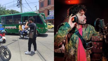 Apoyo a artista callejero por video viral con su mascota
