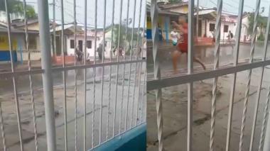 Pelea entre pandillas en el barrio El Valle de Barranquilla