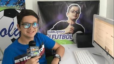 Miguelito, el niño sincelejano que se abre cancha en el periodismo deportivo