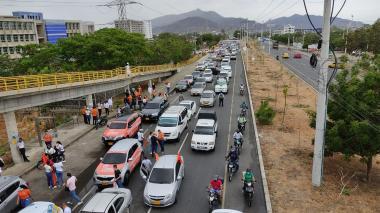 Protestas y marchas apoyan el paro nacional en la Región Caribe