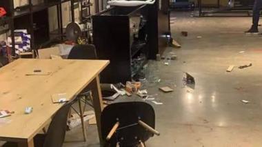 Jarlinson Pantano denunció que su tienda fue saqueada en las protestas