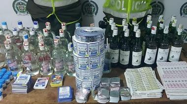 Incautan más de $19 millones en licor adulterado en el barrio Las Nieves de Barranquilla
