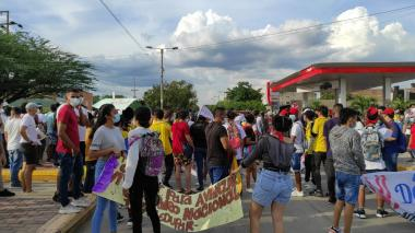 Universitarios lideraron marchas en Valledupar