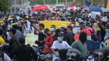 Así avanzan las manifestaciones este 1ro de mayo en Barranquilla