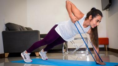 Bandas elásticas, esenciales para el entrenamiento en casa