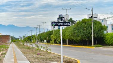Así es la avenida en homenaje a Martín Elías en Valledupar
