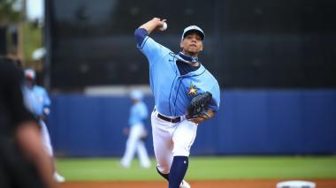 Luis Patiño pitcher de los Rays en Grandes Ligas