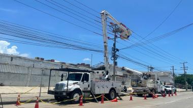 Cortes de luz en Barranquilla por trabajos eléctricos