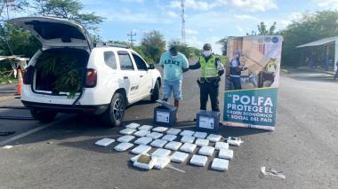 Incautan 32 kilos de marihuana en la Troncal del Caribe
