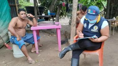 411 las familias afectadas por el desbordamiento del río Guachaca