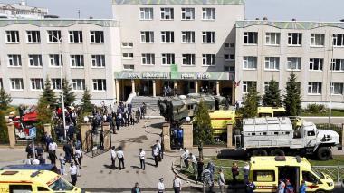 Siete niños muertos en un tiroteo en una escuela en Rusia