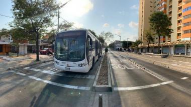 Transmetro suspende servicio por movilizaciones en Barranquilla