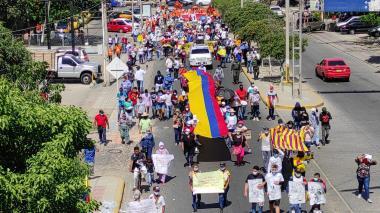 Jornada pacífica de marchas en el Caribe