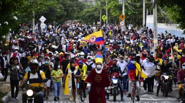 Pacíficas protestas se cumplieron en Soledad y Barranquilla