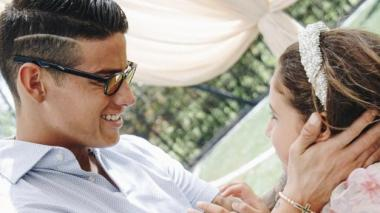James Rodríguez celebra cumpleaños a su hija Salomé