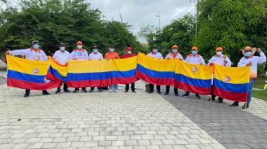 Docentes marchan por las calles de Montería