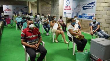 Maratónica vacunación contra covid-19 en Valledupar