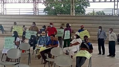 Oposición a proyecto de gas en Pueblo Bello, Cesar