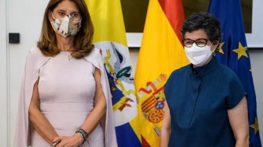 Visita de Marta Lucía Ramírez a España para reunirse con canciller española, Arancha González