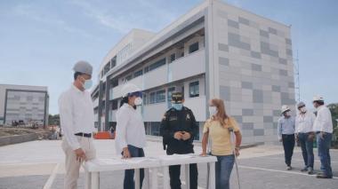 Nuevo comando departamental de la Policía estará listo en septiembre dice gobernadora Noguera