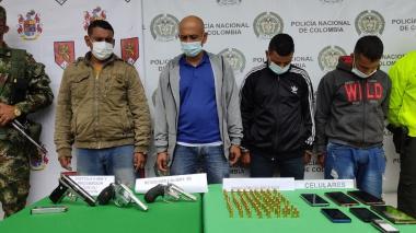 Capturados cuatro presuntos integrantes del Clan del Golfo en Cesar