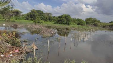 Inundaciones tras lluvias en sectores de Sabanagrande
