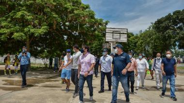 Alcalde Pumarejo anunció las obras del polideportivo de La Magdalena