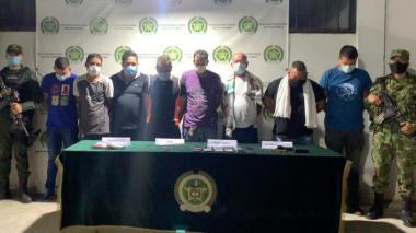Capturan a ocho hombres de los 'Pachenca' por extorsión en Santa Marta