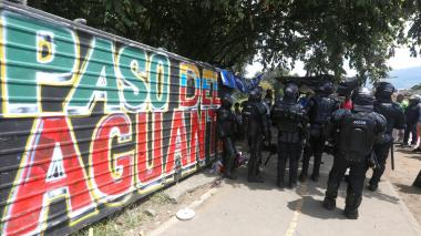 Primeras capturas por desmanes en protestas en Medellín