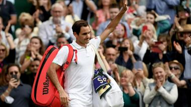 Federer dice adiós a Wimbledon