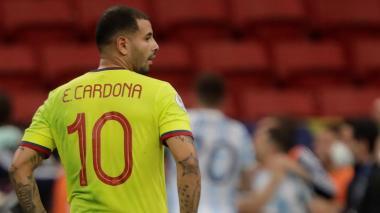 Germán Pezzella le festejó la victoria eufóricamente a Cardona