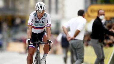 Peter Sagan, con una lesión de rodilla, se despidió del Tour