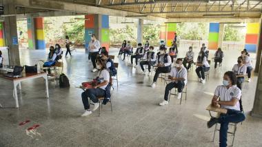 Estudiantes en Puerto Colombia regresaron a las aulas