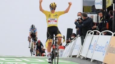 Pogacar se apunta la etapa reina del Tour, Urán sale del podio en la general