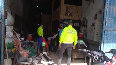 Policía inspeccionó chatarrerías en Baranoa y Sabanalarga