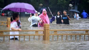 Muertos y desparecidos por lluvias torrenciales en China