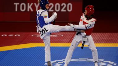Andrea Ramírez quedó eliminada en cuartos de Taekwondo en los Juegos Olímpicos de Tokio
