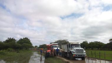 Lluvias deterioran vía alterna entre Salamina y El Piñón
